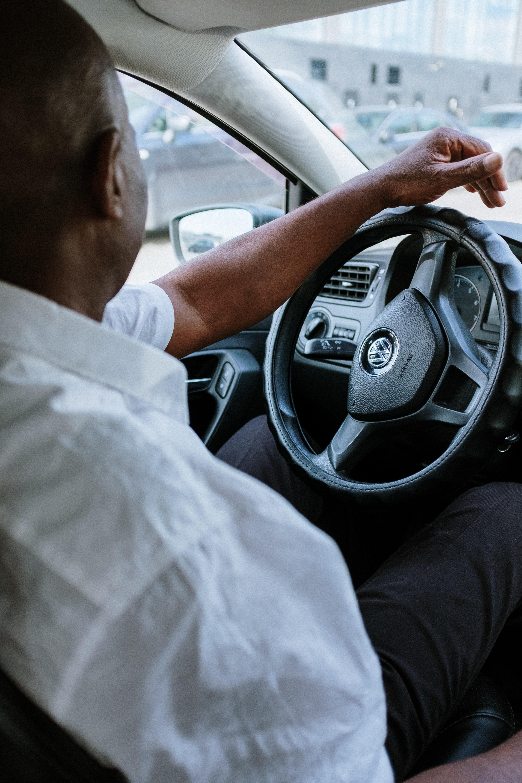 Man Driving VW